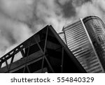 office buildings stretch up to... | Shutterstock . vector #554840329