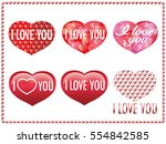 a set of various valentine's...   Shutterstock .eps vector #554842585