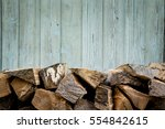 fire wood. home living concept. | Shutterstock . vector #554842615