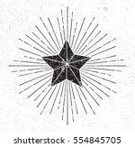vintage star symbol with... | Shutterstock .eps vector #554845705