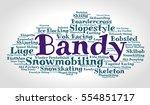 bandy. word cloud  italic font  ... | Shutterstock .eps vector #554851717