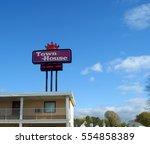 town house motel  cape... | Shutterstock . vector #554858389