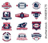 american football colored... | Shutterstock .eps vector #554859175