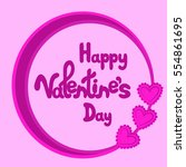 happy valentine's day greeting... | Shutterstock .eps vector #554861695