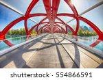 peace bridge  calgary  alberta  ... | Shutterstock . vector #554866591