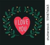 vector element for valentine's... | Shutterstock .eps vector #554876065