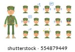 big set of military man... | Shutterstock .eps vector #554879449