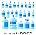 water bottle pack blue color... | Shutterstock .eps vector #554882971