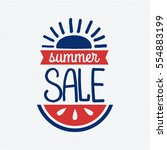 summer sale badge vector. | Shutterstock .eps vector #554883199