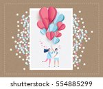 love invitation card valentine... | Shutterstock .eps vector #554885299