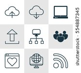 set of 9 world wide web icons....   Shutterstock .eps vector #554887345