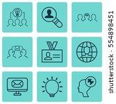 set of 9 business management... | Shutterstock . vector #554898451