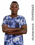 young black african man with... | Shutterstock . vector #554900665