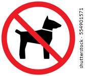 no dogs sign. vector.