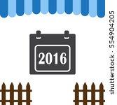 calendar icon vector 2016 flat...