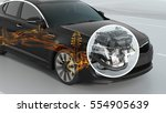 abstract city car structure... | Shutterstock . vector #554905639