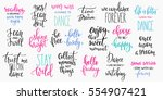 lettering photography overlay... | Shutterstock .eps vector #554907421