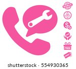 phone service message icon with ... | Shutterstock .eps vector #554930365