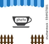 cup icon vector flat design...