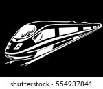 electric train isolated on... | Shutterstock .eps vector #554937841