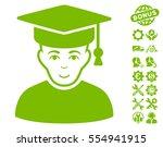 professor pictograph with bonus ... | Shutterstock .eps vector #554941915
