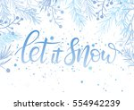 christmas and new year... | Shutterstock .eps vector #554942239