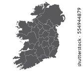 vector map ireland country on... | Shutterstock .eps vector #554944879