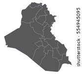 iraq map | Shutterstock .eps vector #554945095