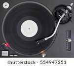 dj turntable playing vinyl... | Shutterstock . vector #554947351