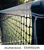 closeup of a tennis net and... | Shutterstock . vector #554950144
