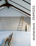 step ladder and construction... | Shutterstock . vector #55495252