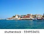 chania  crete   september 16 ... | Shutterstock . vector #554953651