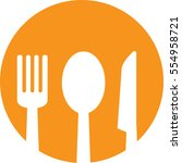 restaurant icon   Shutterstock .eps vector #554958721