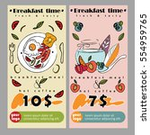 flyer or banner for breakfast... | Shutterstock .eps vector #554959765