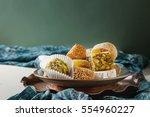 eastern sweets. turkish delight ... | Shutterstock . vector #554960227
