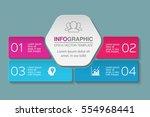 vector infographic template ...   Shutterstock .eps vector #554968441
