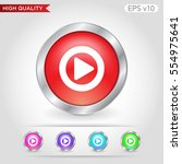 colored icon or button of play... | Shutterstock .eps vector #554975641