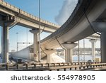 highway junction at the middle... | Shutterstock . vector #554978905