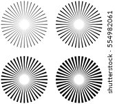 set rays  beams element. the... | Shutterstock .eps vector #554982061