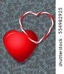 heart.valentines day love...   Shutterstock .eps vector #554982925