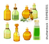 colourful bottles with aroma...   Shutterstock .eps vector #554983501