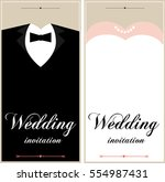 set of wedding card flyer pages ... | Shutterstock .eps vector #554987431