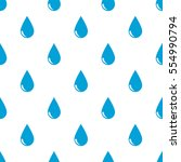 seamless rain drops pattern on... | Shutterstock .eps vector #554990794