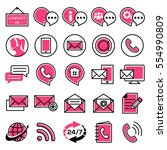 customer service icon set | Shutterstock .eps vector #554990809