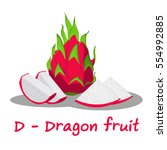 Isolated Fruit Alphabet For Th...