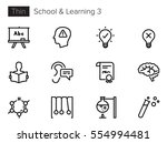 education  school and learning... | Shutterstock .eps vector #554994481