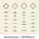 vintage decor elements and... | Shutterstock .eps vector #554996611