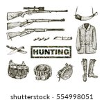 hunting and outdoor traditional ... | Shutterstock .eps vector #554998051