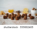 composition of delicious... | Shutterstock . vector #555002605
