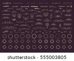 vintage decor elements and... | Shutterstock . vector #555003805